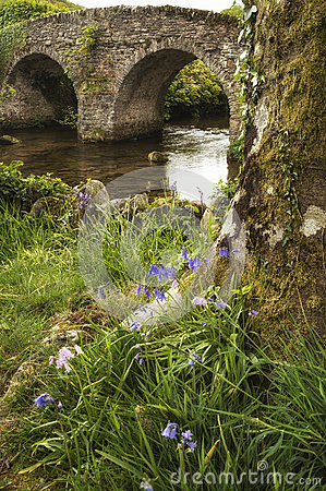 Free Landscape Image Of Medieval Bridge In River Setting In English C Stock Photography - 74830492