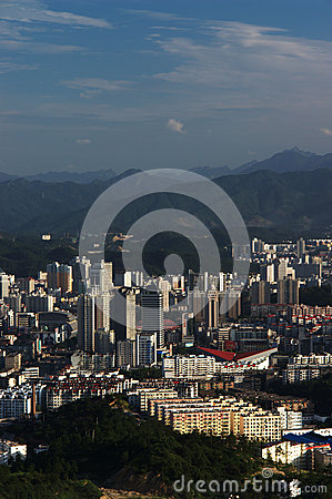 Landscape of  an inland city in china