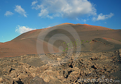 Landscape of Lanzarote Island (Spain)