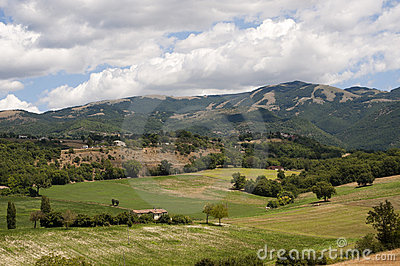 Landscape between Lazio and Umbria (Italy)