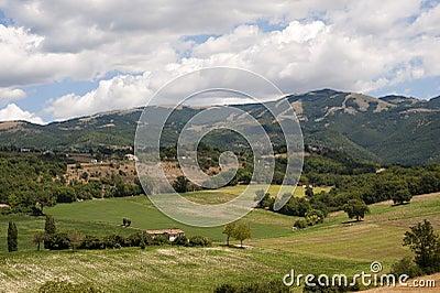 Landscape between Lazio and Umbria (Italy)