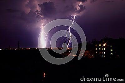 Landscape with lightning