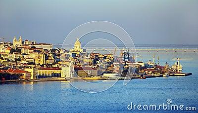 Landscape of Lisboa, Portugal.