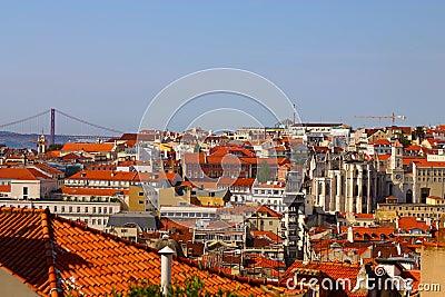 Landscape of Lisbon.