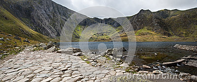 Landscape of Llyn Idwal with Devil s Kitchen