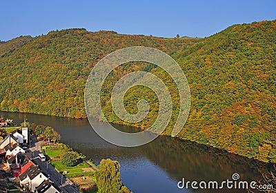 Landscape in Luxembourg near Vianden