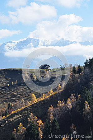 Landscape in Magura, Brasov