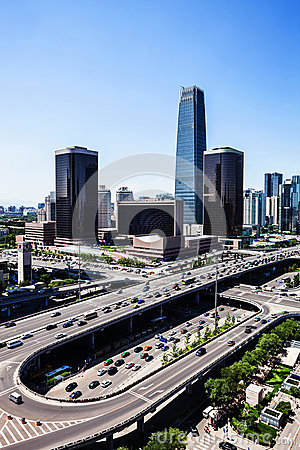 Landscape of modern city