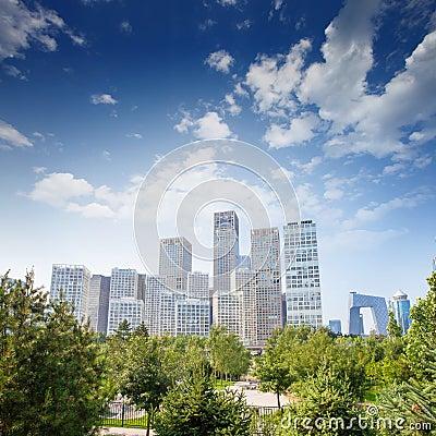 Landscape of modern city,beijing