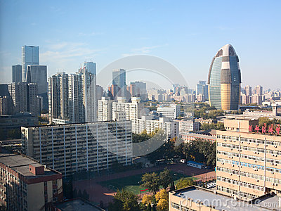 Landscape of modern city ,beijing Editorial Stock Image