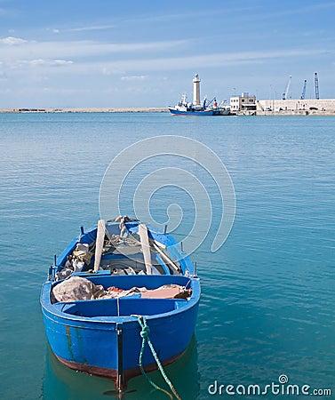 Landscape of Molfetta seaport. Apulia.