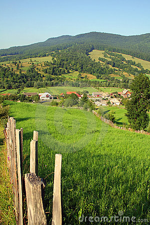 Landscape with a mountain village