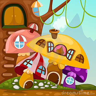 Landscape mushroom house