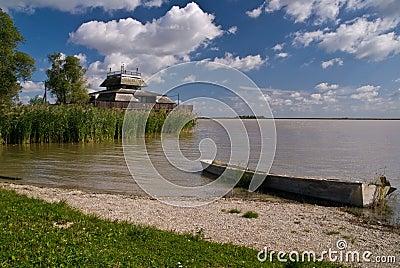 Landscape at national park Fertő-Hanság, Hungary