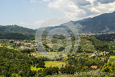 Landscape near Camaiore (Tuscany)