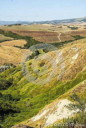 Landscape near Volterra (Tuscany)