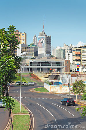 Free Landscape Of The City Of Campo Grande. City With Some Buildings Between Trees, Car Traffic And Urban Art. Royalty Free Stock Photo - 80737175
