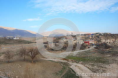 Landscape with the old kurdish town