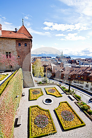 Landscape of old town at Lausanne, Switzerland 2