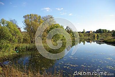 Landscape over Suzdal, Russia