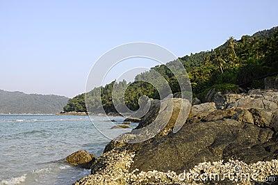 Landscape in Perhentian island in Malaysia