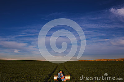 Landscape Photo Of A Field And A Couple On The Middle Free Public Domain Cc0 Image