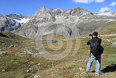 Landscape photographer at Matterhorn
