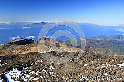 Landscape with Pico Viejo volcano