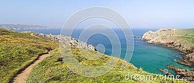 Landscape pointe du raz in brittany