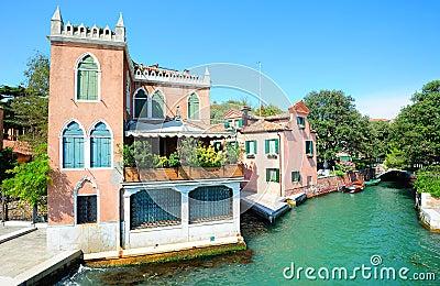 Landscape in the public gardens of Venice