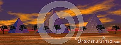 Landscape pyramids