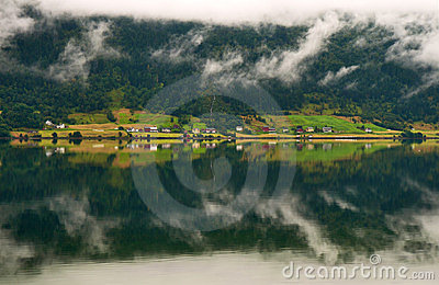 Landscape with reflexion