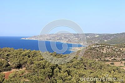 Landscape of Rhodes shore