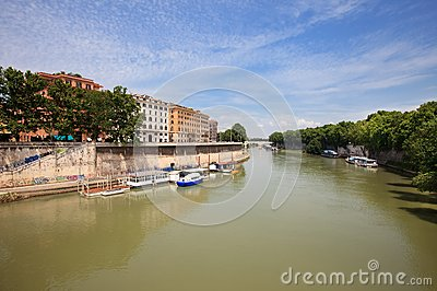 Landscape with river Tiber