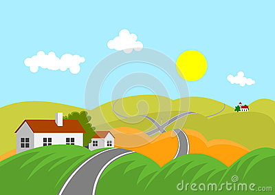 Landscape with road
