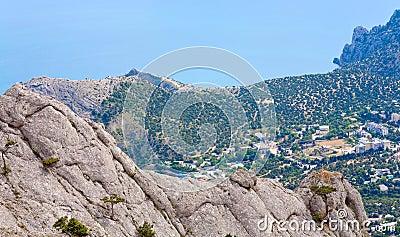 Landscape with rocks and coastline