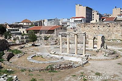 Landscape of roman agora