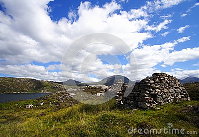 Landscape and ruins in the highlands