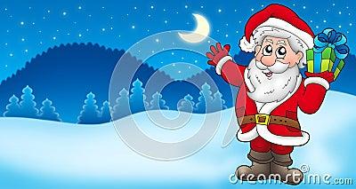 Landscape with Santa Claus 2