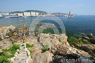 Landscape of sea beach