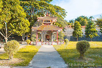 Landscape shrine of china  in thailand