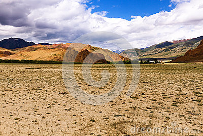 Landscape steppe mountains