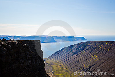 Landscape of summer in the mountains of Iceland