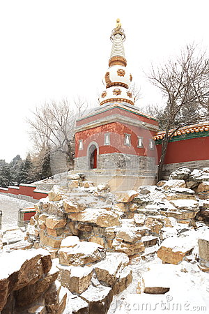 Landscape of Summer Palace in winter