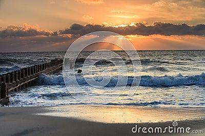 Landscape Sunrise Beach Outer Banks North Carolina