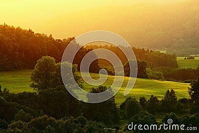 Landscape at sunse