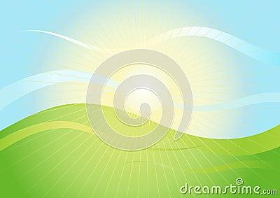 Landscape in sunshine