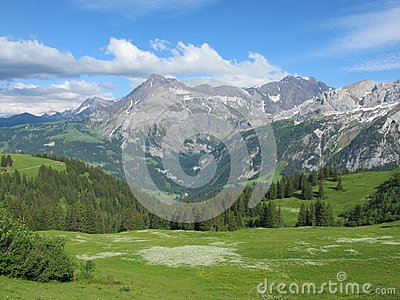 Landscape In The Swiss Alps Stock Images - Image: 25492164