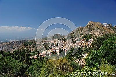 Landscape of taormina