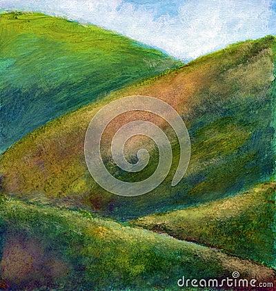 Landscape - tempera